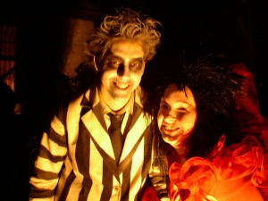 Chris and Melissa as Beetlejuice and Lydia